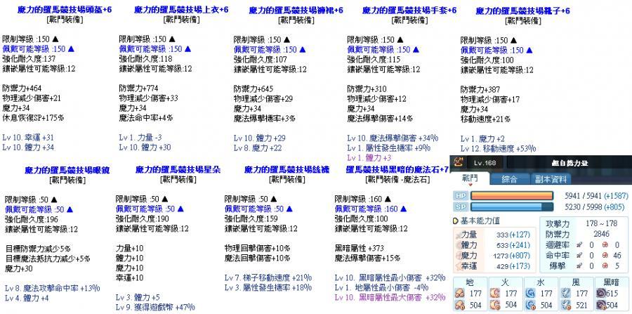 萌萌彩虹岛 帐号 - lv 168 灵魂掠夺者 - 8591宝物